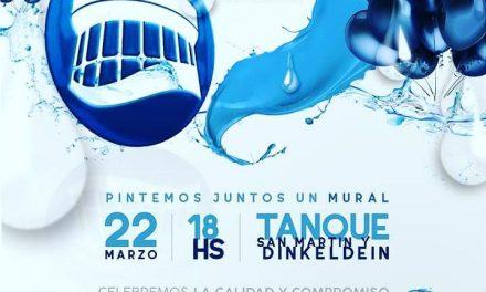 En el Día Mundial del Agua se realizará la creación de un mural