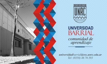 Las inscripciones de la Universidad Barrial serán en los primeros días de mayo