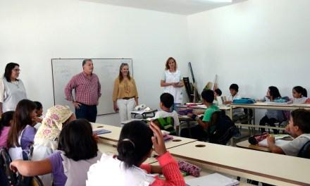 Finalizó la construcción de dos aulas en la escuela «María Teresa Bedoni»