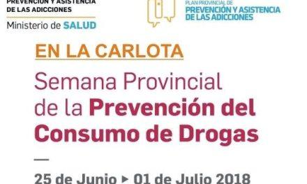 La Carlota: comenzó la «semana provincial de la prevención del consumo de drogas»