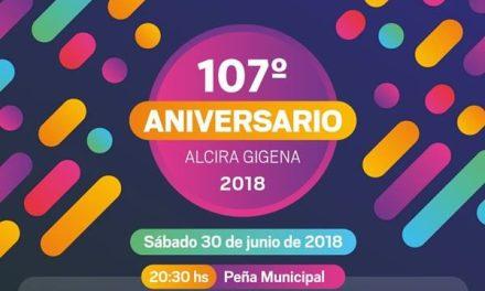 Gran Peña por el 107° Aniversario de Gigena