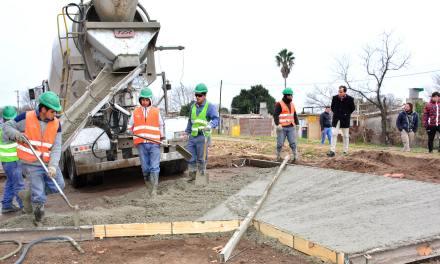 Pavimentación Avenida Colombres: la obra ya cuenta con un 70% de avance