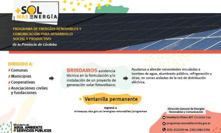 Energías renovables para el desarrollo social y productivo