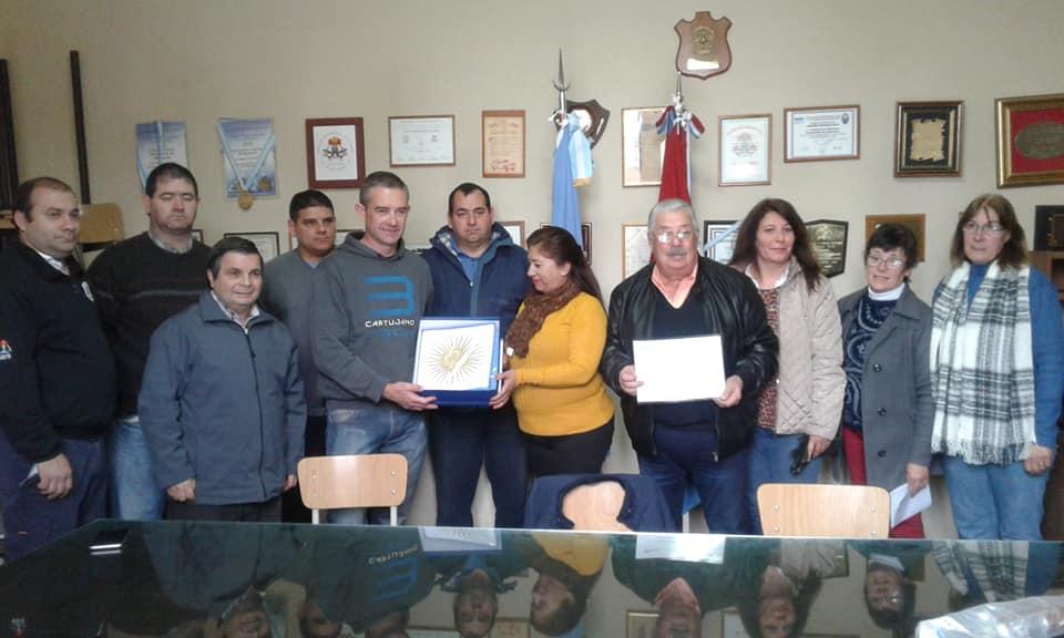 Sampacho: entrega de subsidio a Bomberos Voluntarios