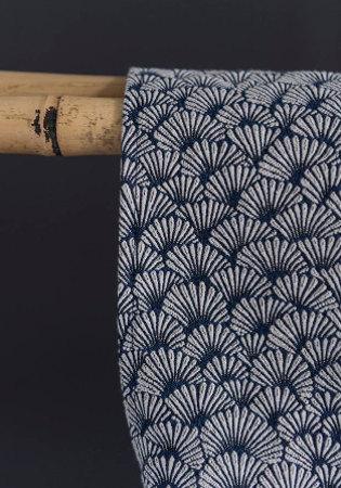 tissu ameublement nymphea petit motif eventails japonais de casal pour fauteuil canape coussins et rideaux vendu par la rime des matieres bon plan tissu
