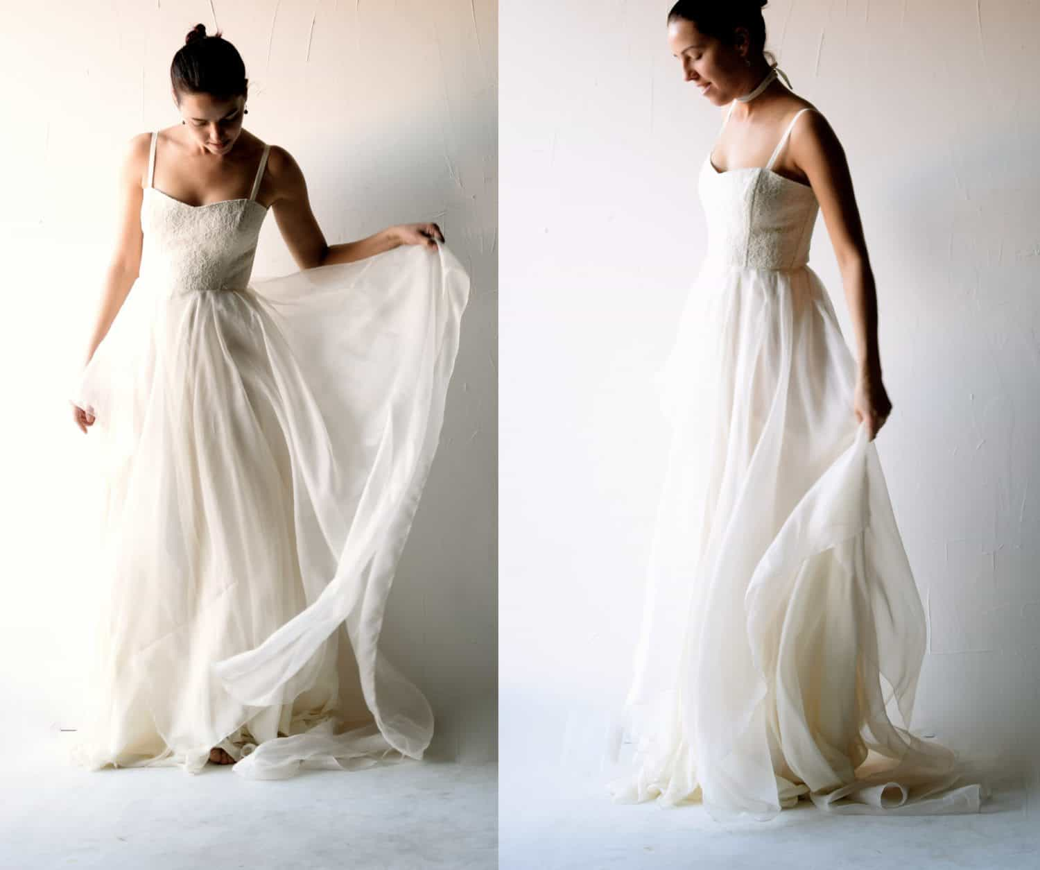 Lace and Organza wedding Gown  Larimeloom Handmade Clothing