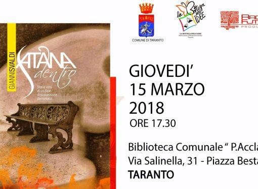 """Satana dentro"" alla biblioteca di Taranto"
