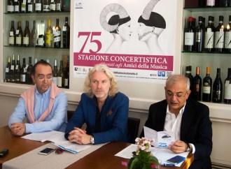 Amici della Musica, 75 anni di concerti. Ecco il nuovo cartellone