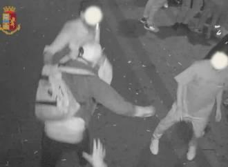 Violenta aggressione davanti ad un locale, incastrati dalle telecamere
