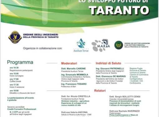Bonifiche ed economia circolare, martedì importante convegno a Taranto