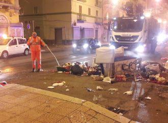 Taranto, inciviltà di Capodanno: bruciati 30 cassonetti [VIDEO]