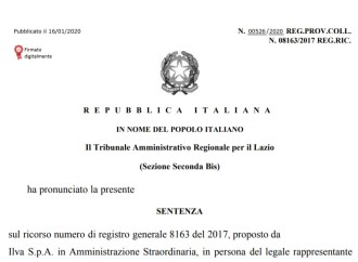 Bonifiche, il Tar del Lazio respinge il ricorso Ilva. Passa la linea di Arpa Puglia