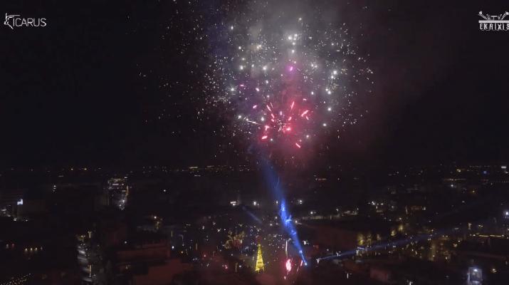 Η αλλαγή του χρόνου στη Λάρισα σε ένα εκπληκτικό drone βίντεο