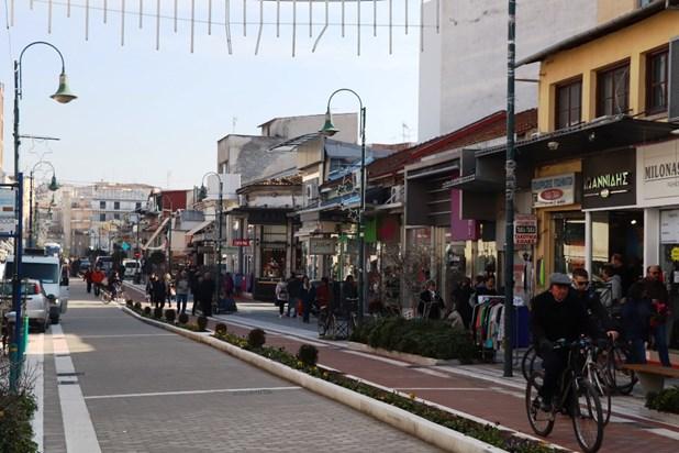 Νέο πεζόδρομο και ποδηλατόδρομο αποκτά η Ιουστινιανού στη Λάρισα