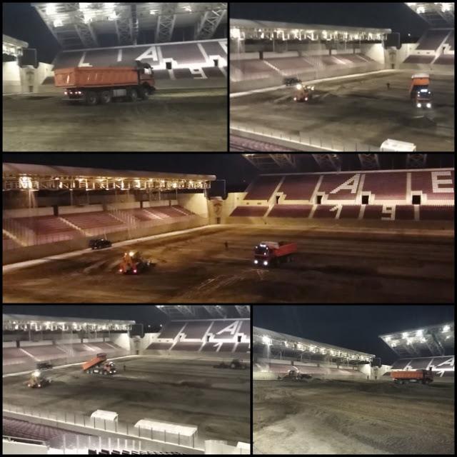 Βράδυ με εργασίες AEL FC Arena (Video)