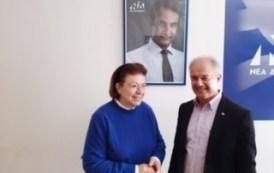 Τα γραφεία της ΝΟΔΕ Λάρισας επισκέφθηκε η Υπουργός Πολιτισμού και Αθλητισμού Λίνα Μενδώνη
