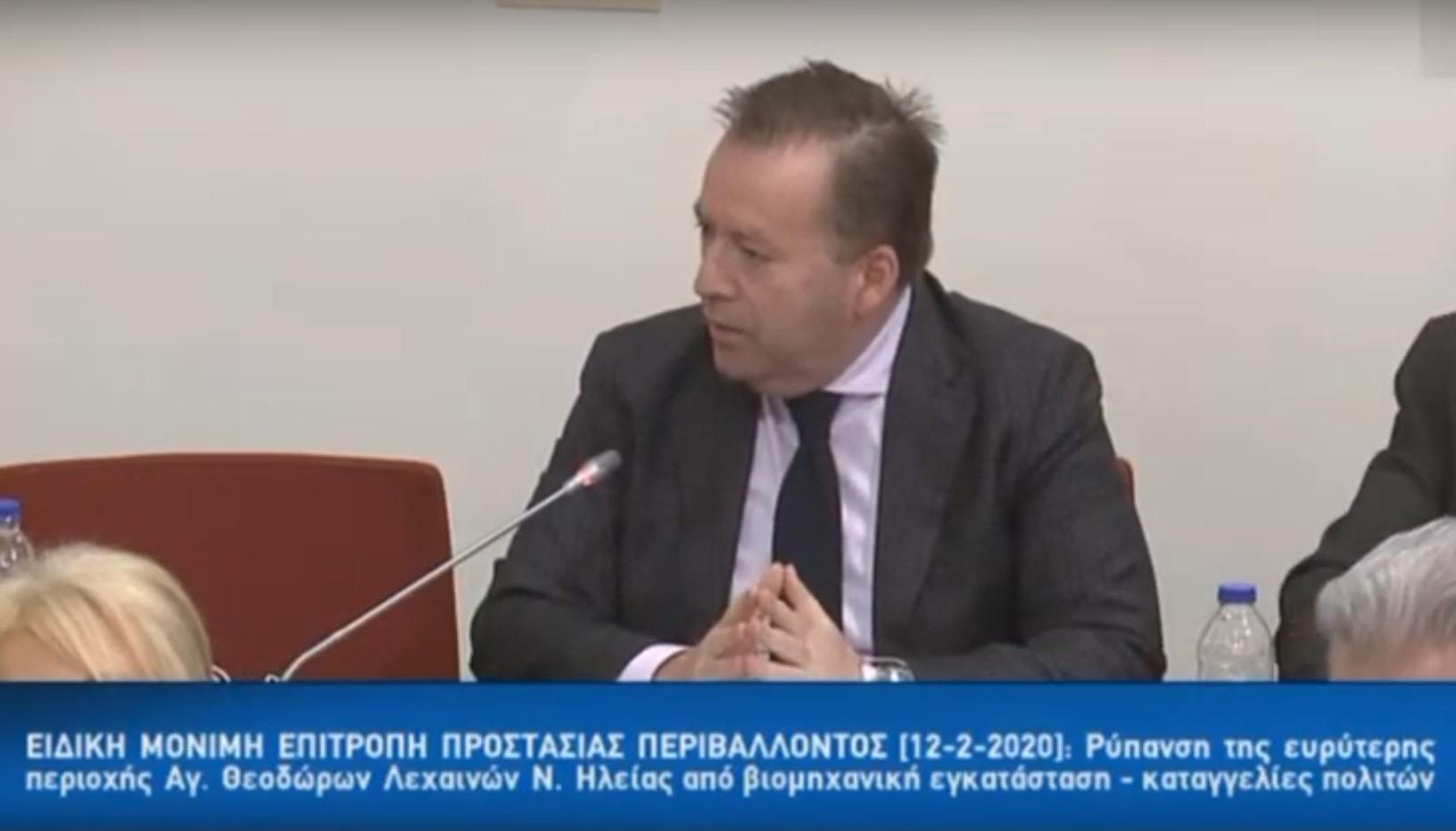 Στην Επιτροπή Περιβάλλοντος της βουλής φέρνει τη μόλυνση του Τιταρήσιου ο Κόκκαλης - Θα κληθούν Περιφερειάρχης, Δήμαρχος και εκπρόσωπος του Υπουργείου