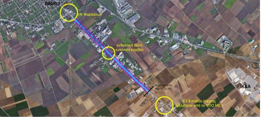 Στο ΕΣΠΑ Θεσσαλίας η μελέτη βελτίωσης της εθνικής οδού Λάρισας – Φαρσάλων