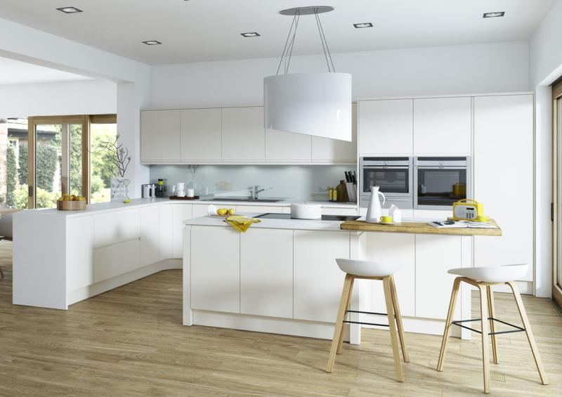 Aconbury Matt Porcelain Handleless Kitchen