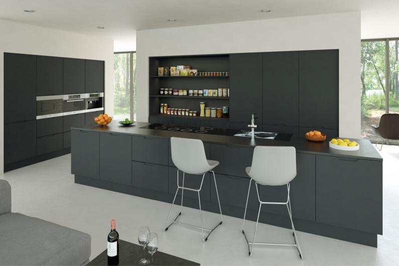 kitchen matt decor cheap integra handleless graphite