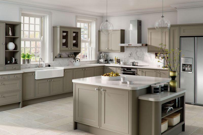 kitchen matt bar height table sets tullymore style stone grey