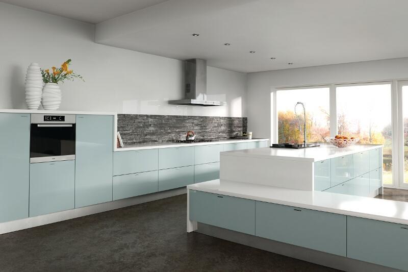 kitchen storage wall units glad bags zurfiz in metallic blue | lark & larks