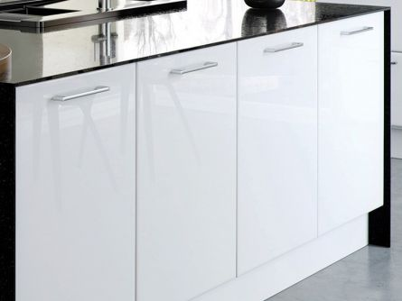 kitchen cabinet faces tall trash can replacement doors made to measure lark larks slab style