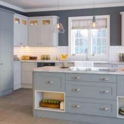 Shaker Style Kitchen Commercial Hoods Kitchens Units Cabinets Lark Larks Aldridge Matt Denim