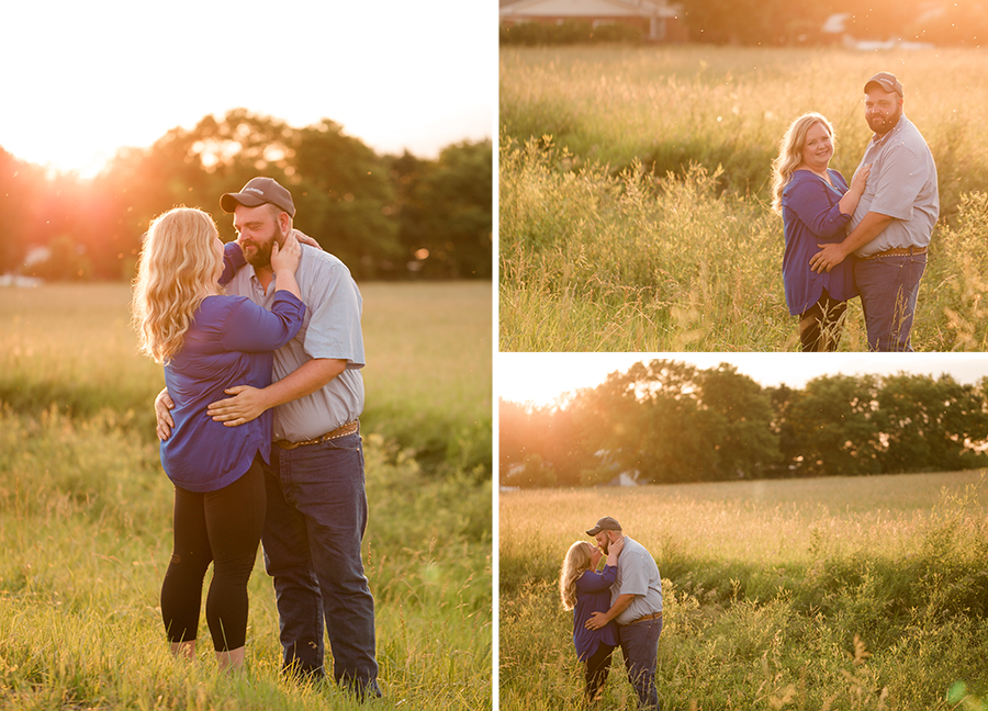 Golden hour engagement and wedding photography session in Iowa!