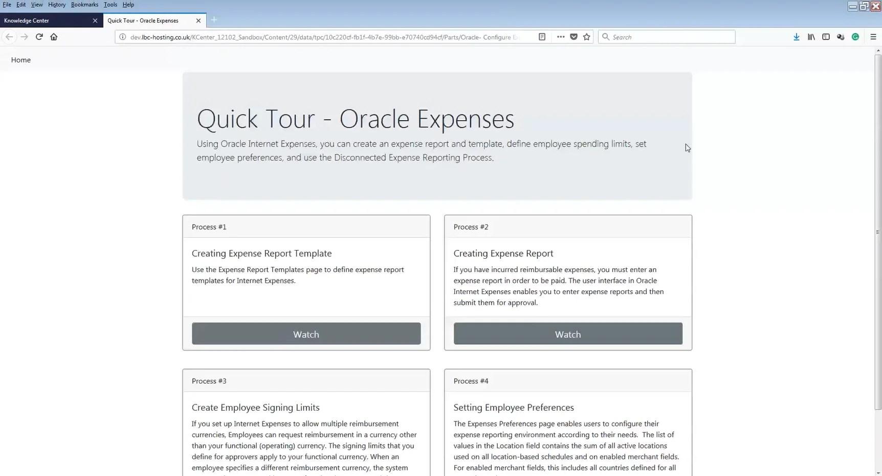 UPK HTML page