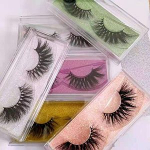 Simple Plastic Eyelash Packaging Boxes