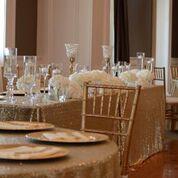 Gold Sequin Linens