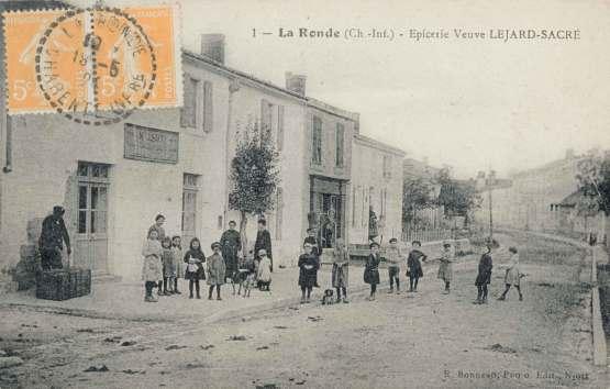 La-Ronde-epicerie-Lejard-Sacre-carte-postale-1924