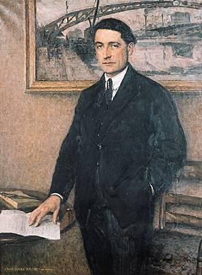 Jules Romains. Huile sur toile (1922) de Paul Émile Bécat.
