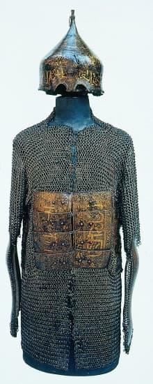 Armure et casque ottomans