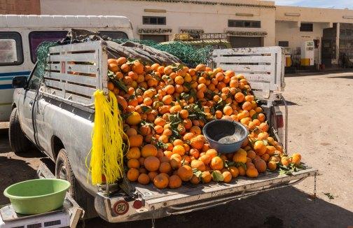 Camion d'oranges
