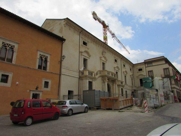 restauro Palazzo Ardinghelli L'Aquila