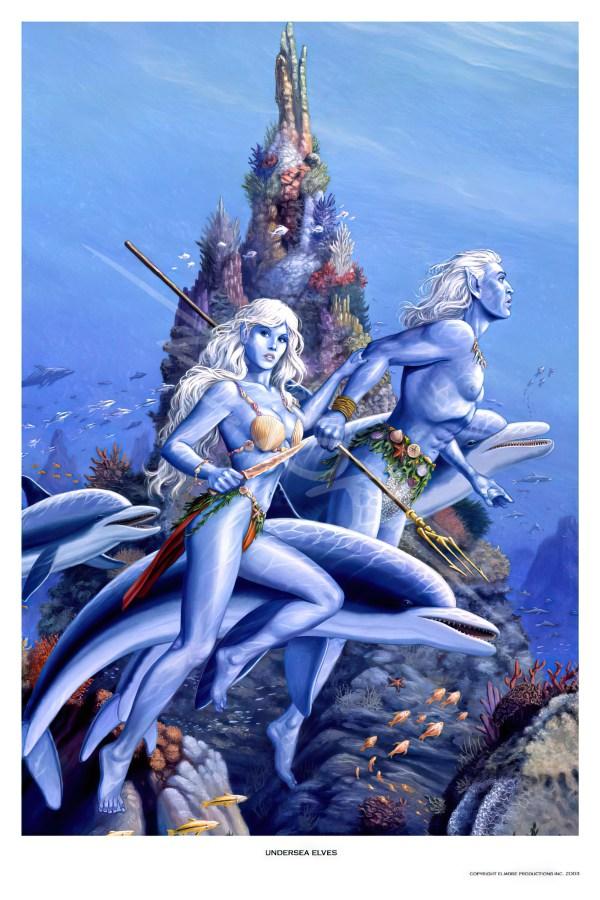 Larry Elmore Dragonlance - Undersea Elves