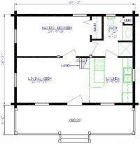 Mountain Series Cabin Floorplans 5 and 6