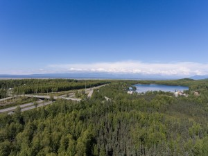Glenn hwy / Mirror lake looking north/east.