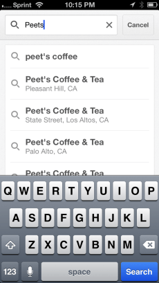 Google does a good job with points of interest