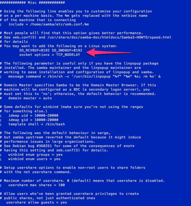 Sample smb.conf file part 3