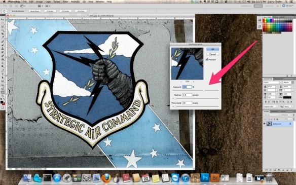 Adobe Photo Shop Unsharpen Mask sliders