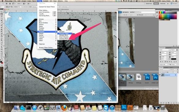 Adobe Photoshop Unsharpen Mask Location