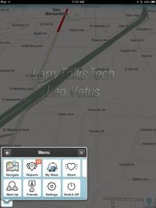 Menu for Waze GPS