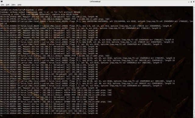 Tcpdump Six Free Linux Network Monitoring Tools For Your Home Network How To Linux Tips