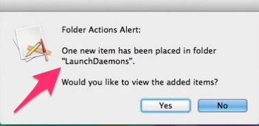 Folder Actions for Malware Detection