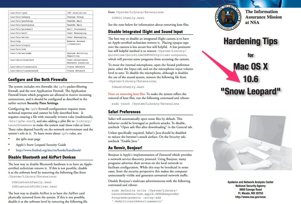 Take Your Mac OS X Security to NSA Standards