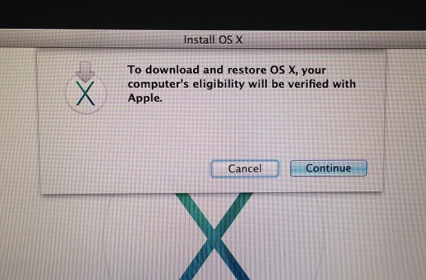 OS X Elgibility Screen