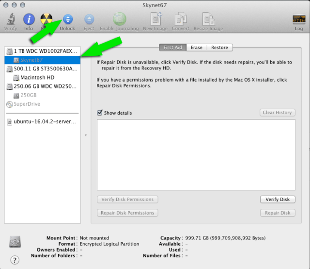 Open encrypted drive from Disk Utility | larrytalkstech.com
